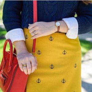 New! Vineyard Vines Anchor Blue Wool Mini Skirt